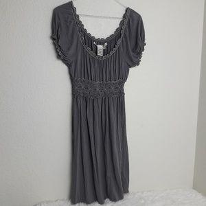 Max Studio M Dress Empire Waist ruffle detail SOFT